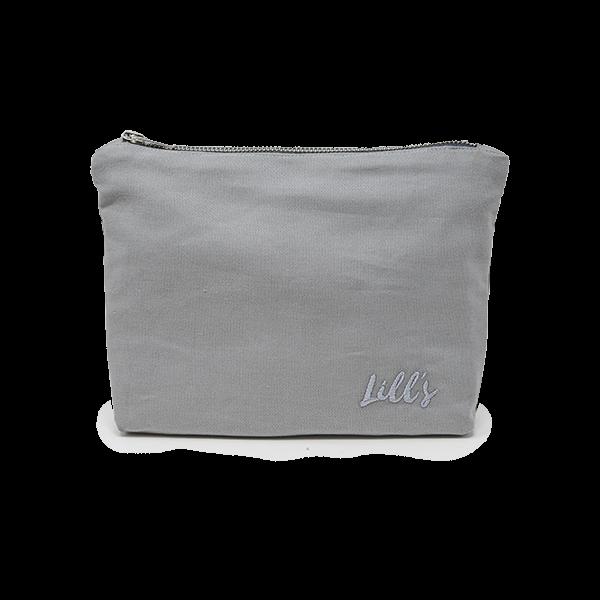 """Clara""-tas van biologisch canvas | light grey & Stone Grey"