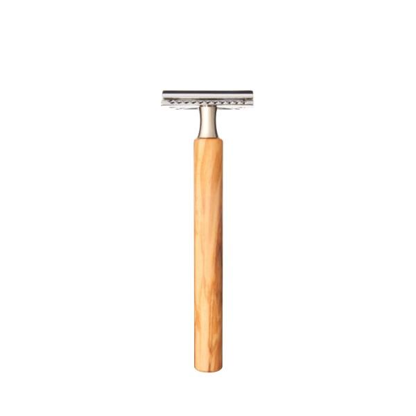 Rasierapparat für klassische Rasierklingen | Olivenholz