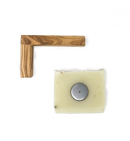 Magnetseifenhalter aus Olivenholz