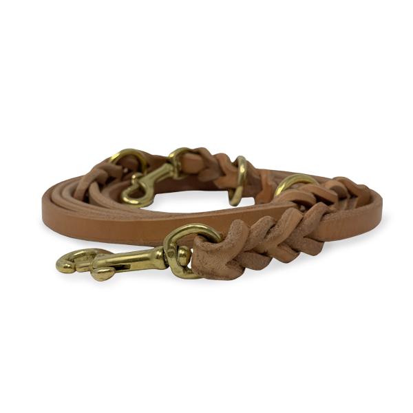 Für kleine Hunde |3-fach verstellbare Lederleine