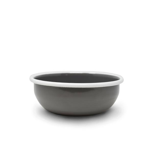 Futternapf aus Emaille |Grey