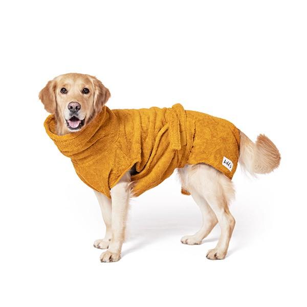 "Hundebademantel aus Bio-Baumwolle ""Amber"""