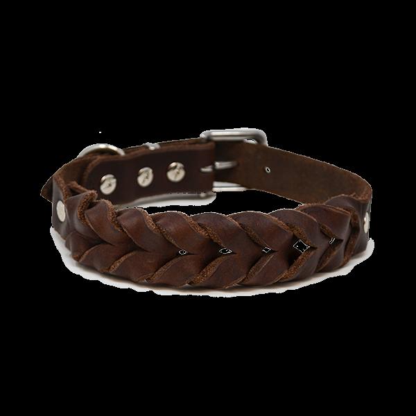 Hundehalsband aus Fettleder |Dunkelbraun