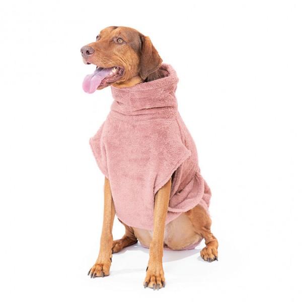 "Hundebademantel aus Bio-Baumwolle ""Pink Berry"""