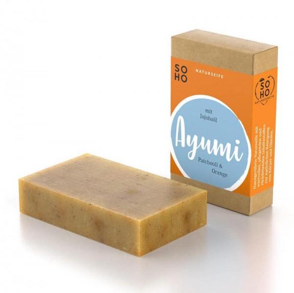 Körperseife Ayumi |Kräuterseife mit Patchouli & Orange