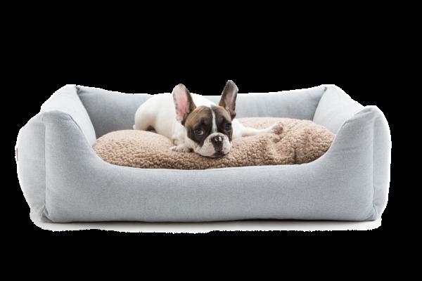 HENRI - Hundebett aus Canvas |light grey
