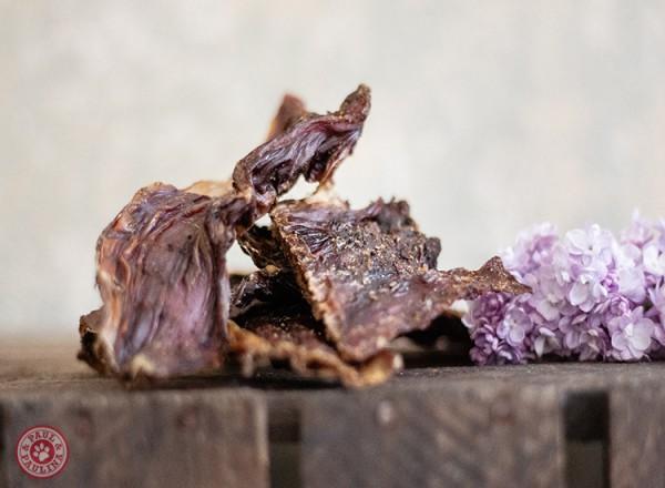 Schlundfleisch vom Rind flach  luftgetrocknet