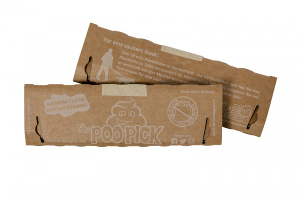 PooPick - der Kotbeutel aus Pappe