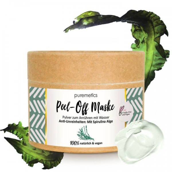"""Peel-off-Maske """"Anti-Unreinheiten - Mit Spirulina Alge"""""""