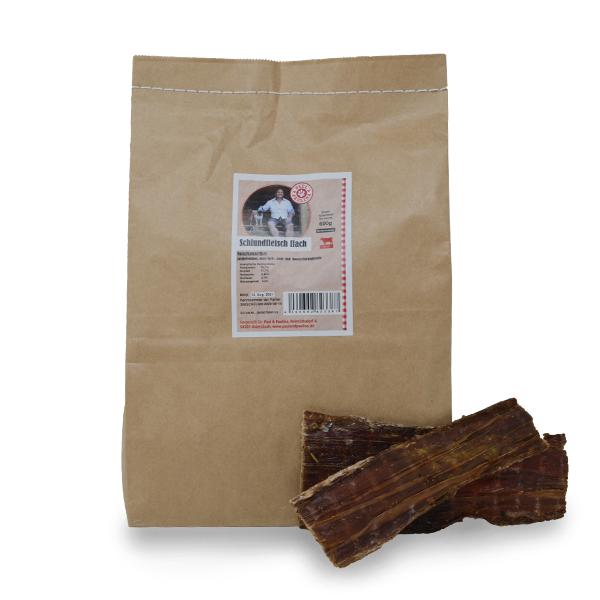 Schlundfleisch vom Rind flach |luftgetrocknet