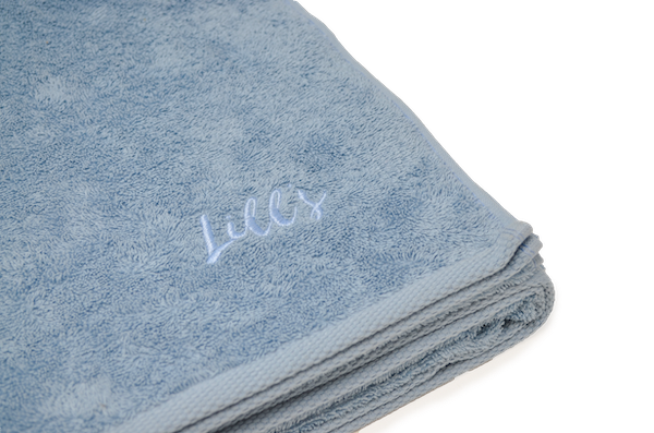 Organic cotton dog towel | Ocean Blue