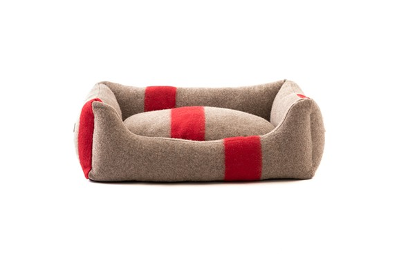 HENRI - Hundebett aus recycelter Wolle | rot