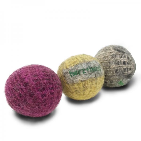 Ball |aus Bio-Wollfilz