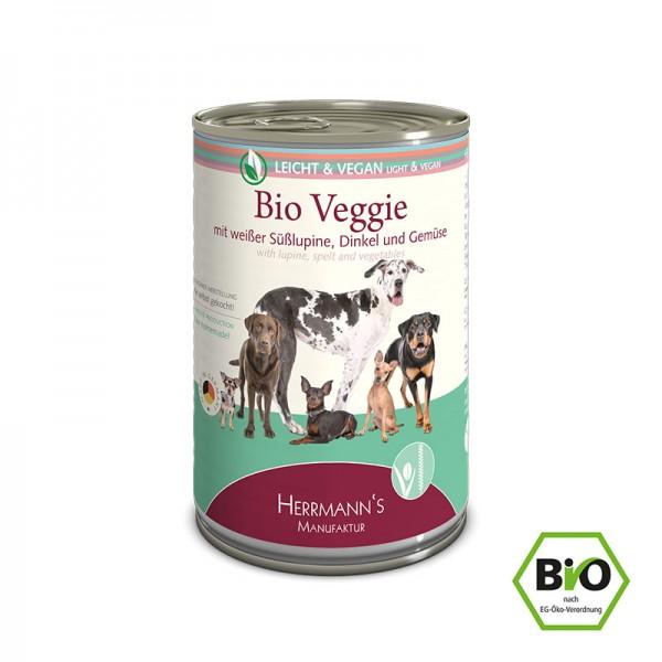 Bio-Veggie Menü mit weißer Süßlupine, Dinkel und Gemüse