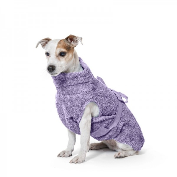 """Hondenbadjas van biologisch katoen """"Purple"""" [limited edition]"""