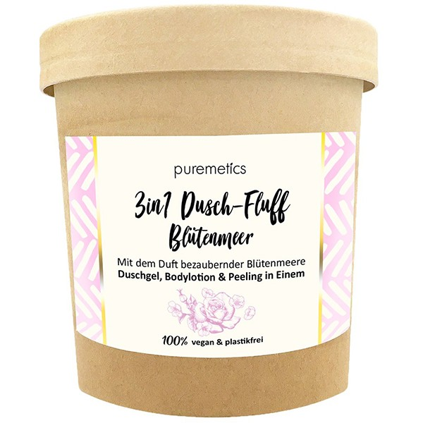 "3in1 Dusch-Fluff mit Zuckerpeeling ""Blütenmeer"""