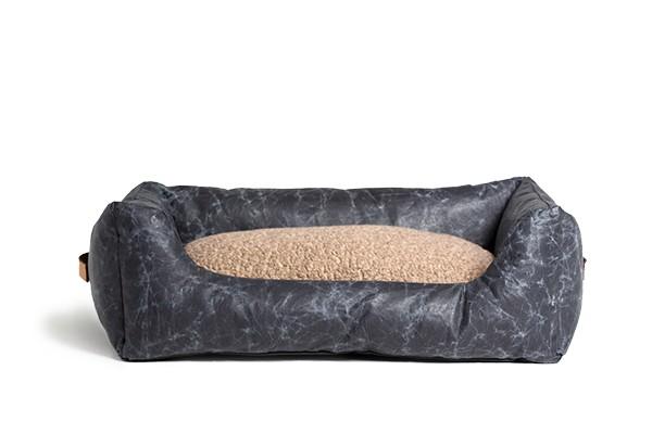 HENRI - Hundebett aus gewachsten Zellulosefasern |black