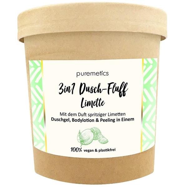 "3in1 Dusch-Fluff mit Meersalzpeeling ""Limette"""