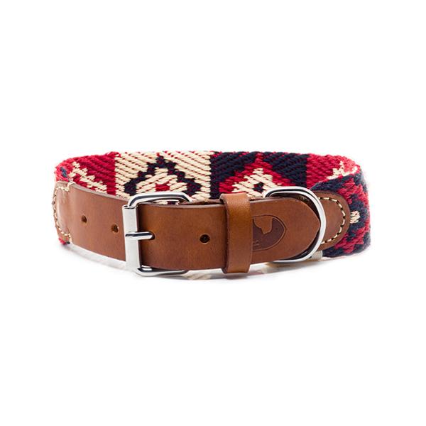 Hundehalsband Peruvian Indian Red