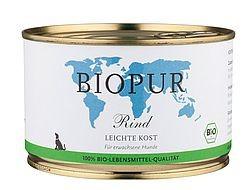 Biopur Leichte Kost: Rind in der Dose, 400g