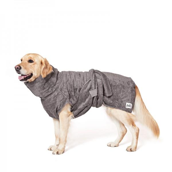 "Hundebademantel aus Bio-Baumwolle ""Stone Grey"""