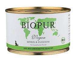 Biopur Vegan: Dinkel und Zucchini in der Dose, 400g