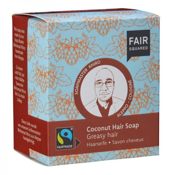 Haarseife für fettiges Haar |Kokosnuss 2x80g
