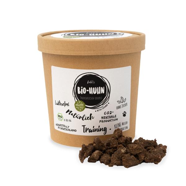 Bio-Huhn Trockenfleisch-Leckerli mit Bio-Chiasamen, 250g