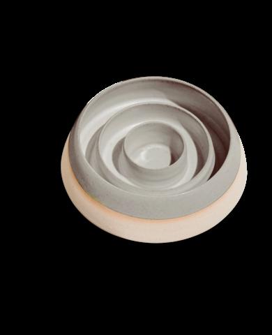 Ceramic Slow feeder Bo |grey