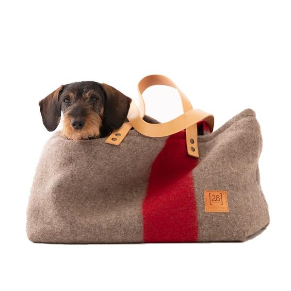 Hundetragetasche INGE aus recycelter Wolle